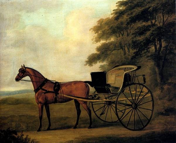 A Horse And Carriage In A Landscape